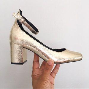 Gap Gold Metallic Block Heels